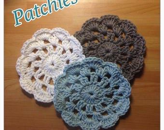 Crochet cotton coasters (set of 3)