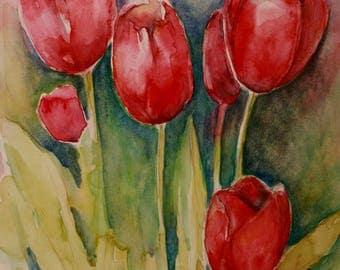 Tulips - Original Watercolor