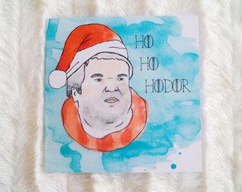 Ho Ho Hodor - Game of Thrones Christmas Card