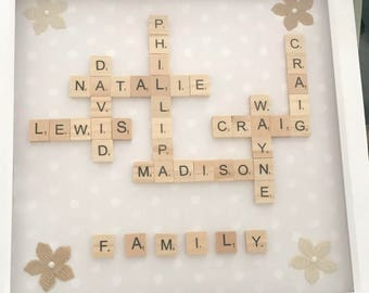 Family Name Box Frame
