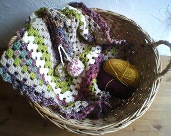 Crochet Baby Blanket, Pushchair Cover, Stroller Cover, Baby Shower Gift, Handmade, Unique, Unisex