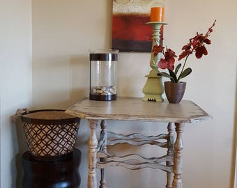 Shabby Distressed Accent Table
