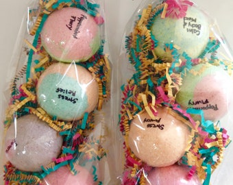 Pack of Four Bath Bombs,Bath Bomb w/ Essential Oils,Perfect Gifts for Her,Birthday Gifts,Customize Your Own Bag of Bombs,Luscious Bath Bomb