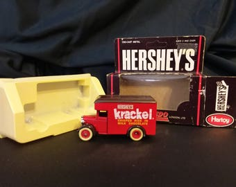 1979 diecast model of a Hershey's krackel delivery truck from the early 1900s
