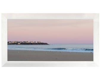 Sunset on Hampton Beach NH, Photography, Fine Art, Home decor, Wall art, large framed print
