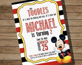 Mickey Mouse invitation, Mickey Mouse Party Invitation