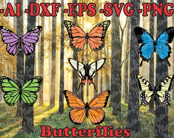 Butterflies SVG 7 files