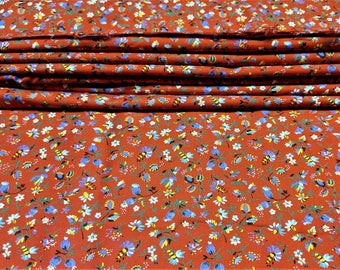 Portuguese Vintage Cotton Four (4) Yards 45 Inches Wide Seamstress Supply Fabric Fine Twill Woven Cotton Garment Sewing Quilting Pillows