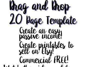 20 Page Brochure/Booklet/Zine PowerPoint Template - Create and easy passive income!