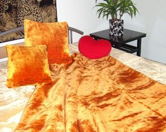 Top offer! 3 piece set, 1 bedspread 200 x 160 + 2 pillowcases 40 x 40 copper