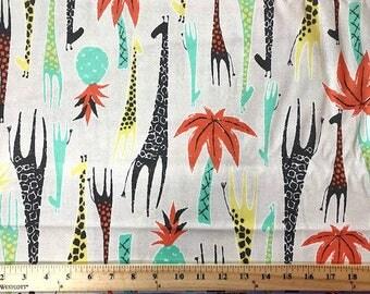 Michael Miller Fabric, Giraffes, Quilting Fabric, Animal Print