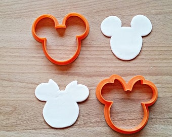Minnie & Mickey Mouse Cookie Cutter
