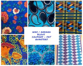 Fat quarters - Blue wax, Ankara, Kente fabrics - several options available