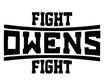 Fight Owens Fight Kevin Owens KO WWE Wrestling Wrestler Decal Sticker Bumper Cling Squared Circle