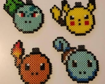 Starter Pokemon Christmas Ornaments Perler Beads Decorations