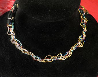 Multi-Colored Kumihimo Choker