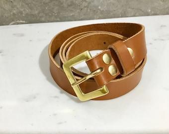 Belt leather calf full grain