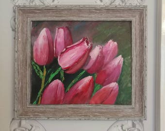 Tulips in pink and red shades for someone you care, respect or love