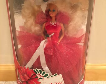 Barbie Happy Holidays Special Edition 1988 1st in a Series - Never been opened - Mint Condition - Collectors Item