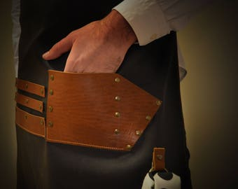 Apron for Barber - Hairstylist - Hairdresser 100% Italian Leather