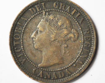 1888 1c Canada One Large Cent KM7 Bronze