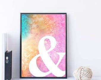 Watercolor Printable Wall Art
