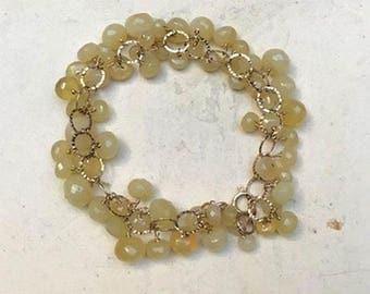 Yellow Opal Bracelet