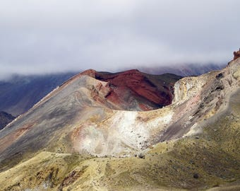 8x12 Fine Art, Wall Art, Print, Tongariro Crossing, New Zealand