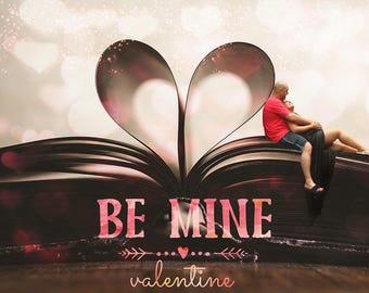 Valentines Digital Backdrop, Valentines Digital Background, Valentines Romantic Backdrop, Valentines Romantic Background, Romantic Book