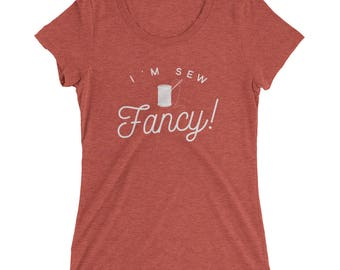 I'm Sew Fancy T-shirt, Women's Sewing Shirt, Needle and Thread Tee, Ladies' short sleeve t-shirt