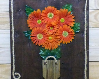 Wall Art with Artificial Flowers, Hanging Flower Decor,  Wall Art Flower Decor, 3D Wall Art, Hanging Flowers for Decorating, Flower Wall Art