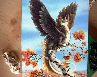 Autumn Dragon -Fantasy Print