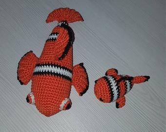 Fish Nemo, Plush toy, birthday gift, Handmade toy