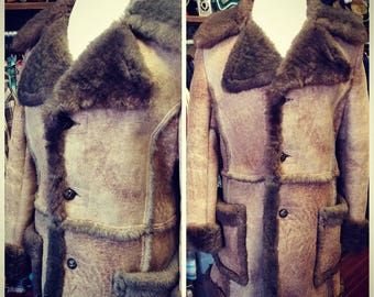 Amazing Vintage Genuine Shearling Coat