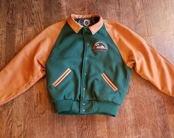 Satin Varsity Jacket Etsy