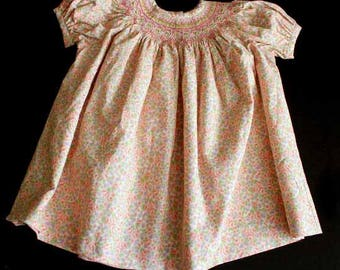 Hand Smocked Baby Bishop Dress