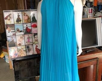 Silk light blue dress