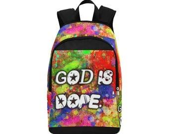 God Is Dope Custom Fabric Backpack