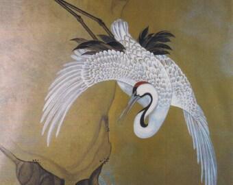 Asian Crane Stencil