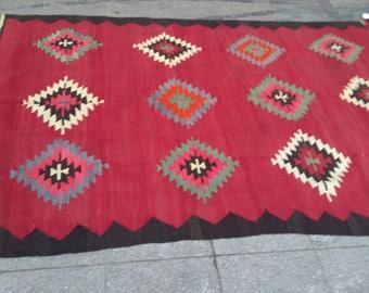 """Handmade kilim rug290x170cm 114""""x67"""",Turkish kilim rug,Anatolian kilim rug,vintage kilim rug,tribal kilim rug, Handmade kilim rug"""