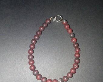 Bloodstone bracelet.