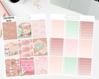I Love Planning - Full Kit   Planner Stickers