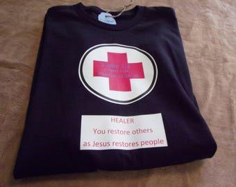 T shirt Christian gaming healer