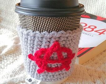 Crocheted Anarchy Coffee Cozy