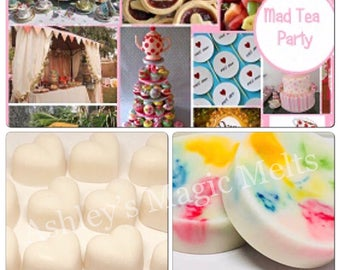 3 Mad tea party wax melts, bakery wax melts, sweet wax melts, cheap wax melts, strong wax melts, food wax melts, wax melt tarts, best wax