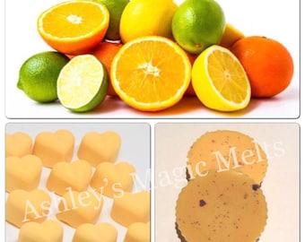 3 Citrus crush wax melts, fruit scented wax melts, wax cubes, highly scented wax melts, strong wax melts, citrus wax melts, cheap wax melts