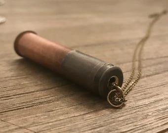 Copper Bullet Stash Necklace