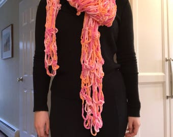 Pink Multi-color Shawl