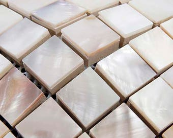 8mm thickness freshwater shell mosaic white Mother of pearl kitchen backsplash tile MOP132 pearl shell bathroom wall tiles