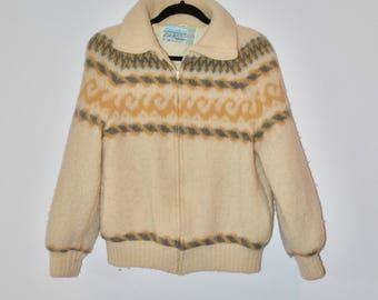 VTG Icelandic Wool Bomber Coat